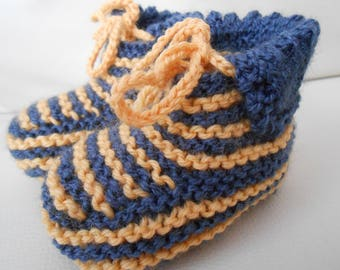 Baby booties knitted hands 3-6 months style boots