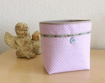 Basket, stylish storage basket, pink Oddments, woman, retro basket basket