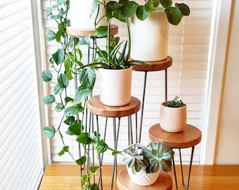 HARPER - Hairpin leg plant stand, metal plant stand, plant stand, speaker stand, side table, indoor plant stand, small table