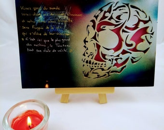 """Framed painting and original painting """"skull and catacomb quote"""""""