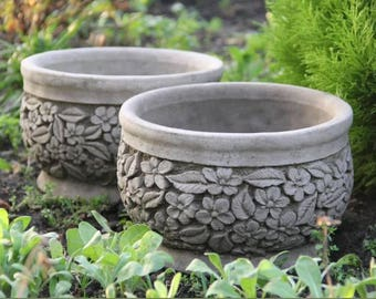 Handcast Stone Swan Flower Pot Planter Bespoke Ornament Decor Etsy