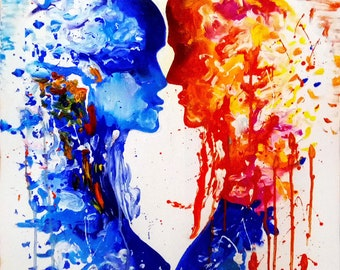 """Oil painting """"Harmony"""" Harmony of two souls Size: 60cm*80cm; Oil on canvas."""