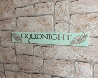 """Decorative wooden sign """"Goodnight"""""""