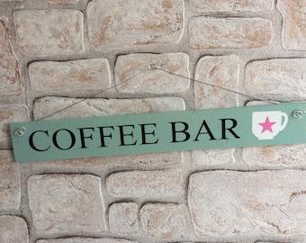 "Decorative wooden sign ""Coffeebar"""