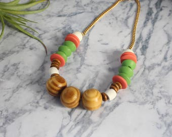 colorful necklace, beaded necklace, statement necklace, beads necklace, gift for her, statement jewelry, colorful jewelry