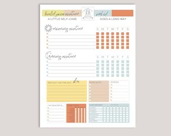 Editable Self-Care Planner   Good Notes Self-Care Planner   Printable Planner