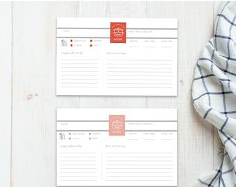 Printable Recipe Card   Neutral Recipe Card Set