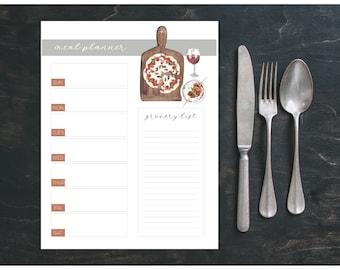 Editable Weekly Meal Planner   Printable Meal Planner Bundle