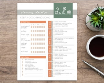 Editable & Printable Weekly Cleaning Checklist   Whole House Refresh   One Week to Clean