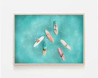 Printable Surf Art   Aesthetic Ocean Print   Summer Print