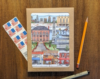 Durham NC Central Park area Greeting Cards 5 pack