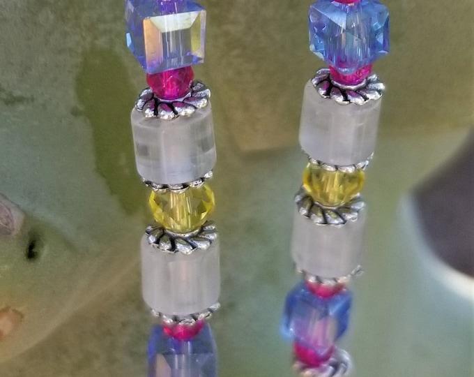 70-Colorful Swarovosky Crystal Earrings