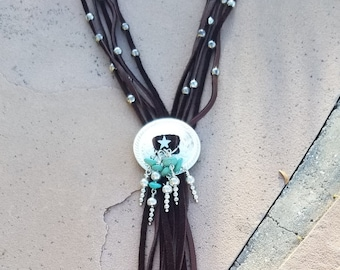 Campo Frio Turquoise & Deerskin Necklace