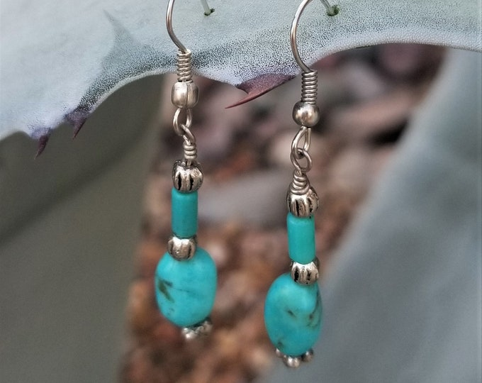 40-Sleeping Beautry Turquoise Earrings