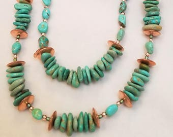 "26"" Campo Frio Mined Turquoise Necklace"
