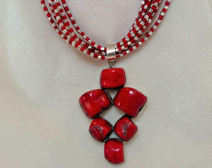 "Stunning Coral 27"" Necklace"
