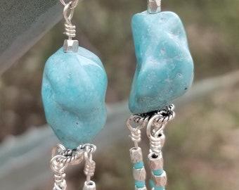 60-Sleeping Beauty Mine Turquoise Earrings