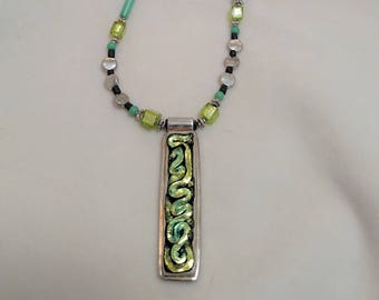 "Fused Glass 25"" Necklace"