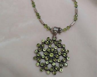 """Peridot 28"""" Necklace"""