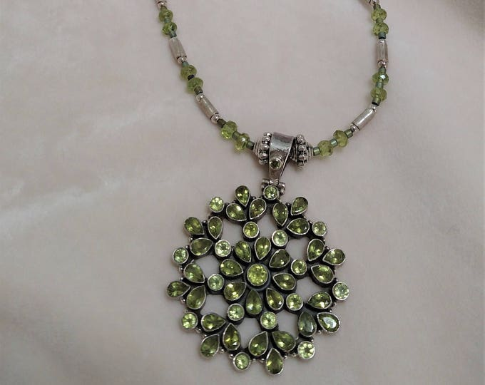 "Peridot 28"" Necklace"