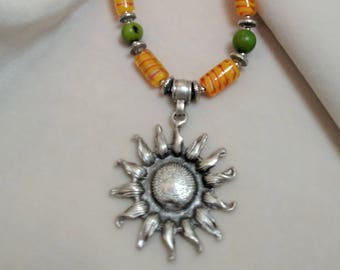 "Sunflower 30"" Necklace"