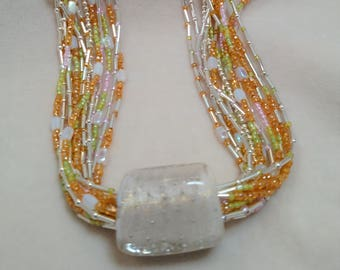 "Multi-Strand 26"" Glass Bead Necklace"