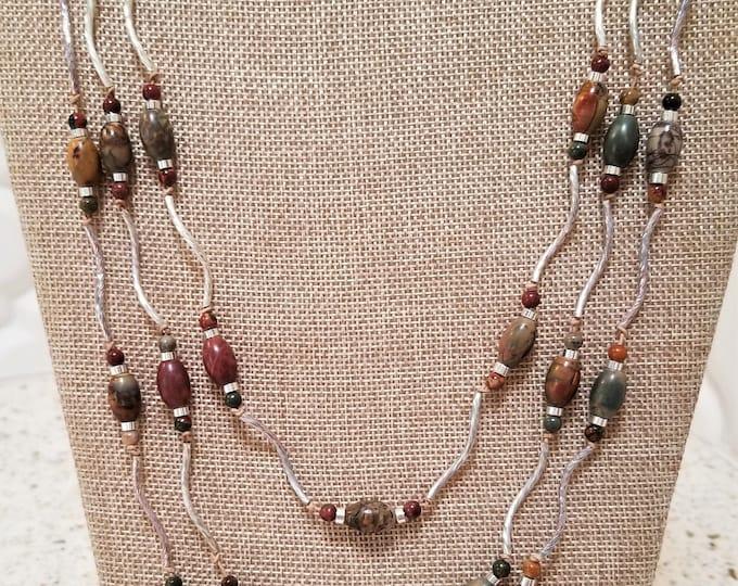 "25"" Red Creek Jasper 3-Strand Necklace"