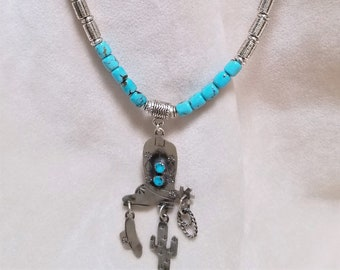 "24"" Royal Beauty Turquoise Western Necklace"