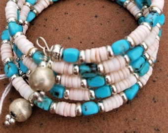 Kingman Turquoise And Spiny Oyster Bracelet