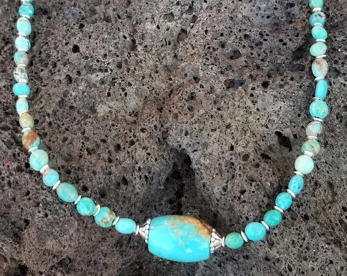 "19"" Kingman Turquoise Necklace"