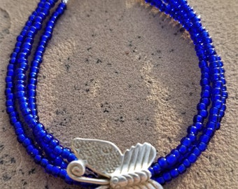 "8-1/4"" Sterling Butterfly Bracelet"