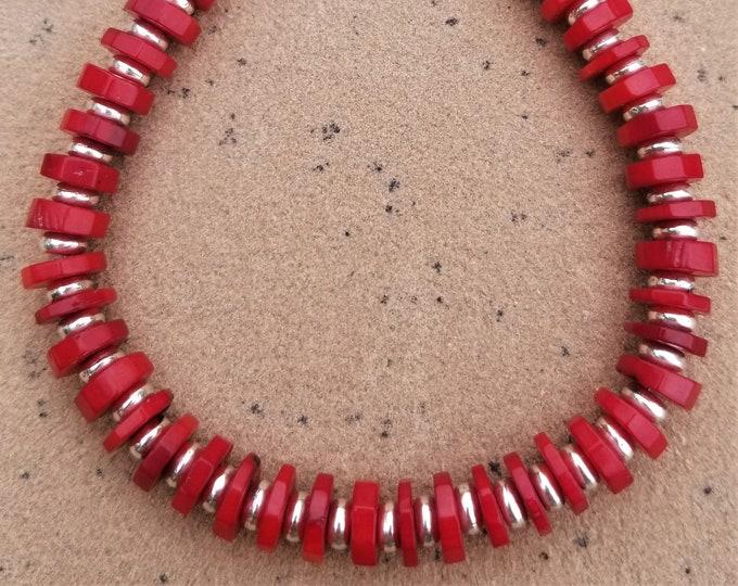 """8-1/2"""" Red Coral Bracelet"""