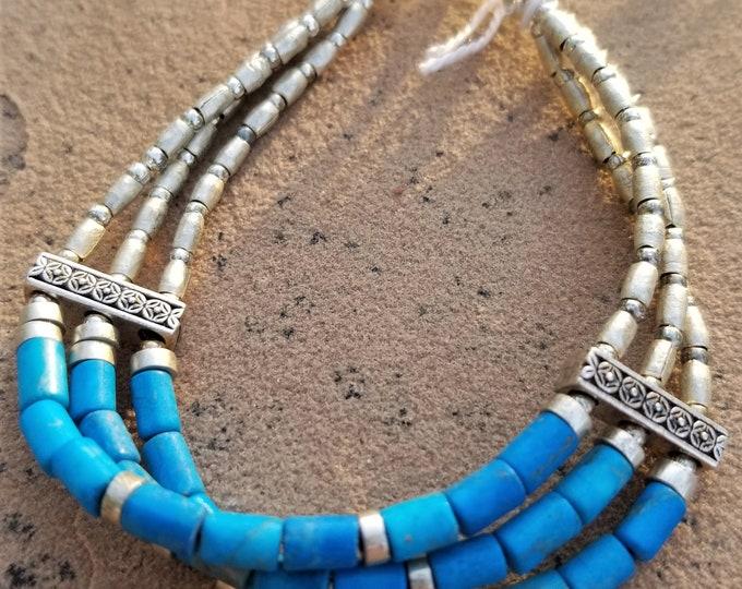 """8"""" Turquoise Southwest Style Bracelet"""