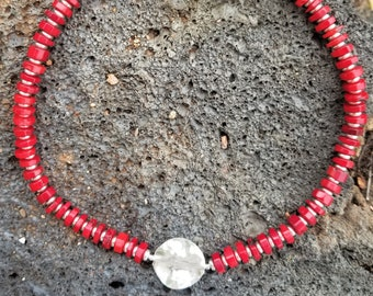 "18"" Red Coral Necklace"