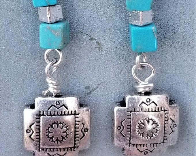 67-Turquoise Earrings