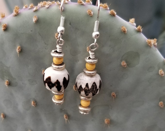 19-African Beaded Earrings