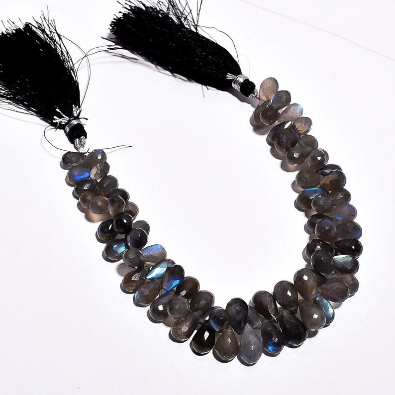 10X6 14X8mm Size 207.95Cts Labradorite Gemstone Beads Drops shape Beads Full Flashy Fire Labradorite Beads 8INCHES