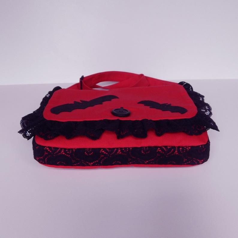 Bat Lover Gothic Crossbody Halloween Bags Black/&Red Gothic Goth Messenger Bat Purse Red Messenger Bag Bat Bag Gothic Bat