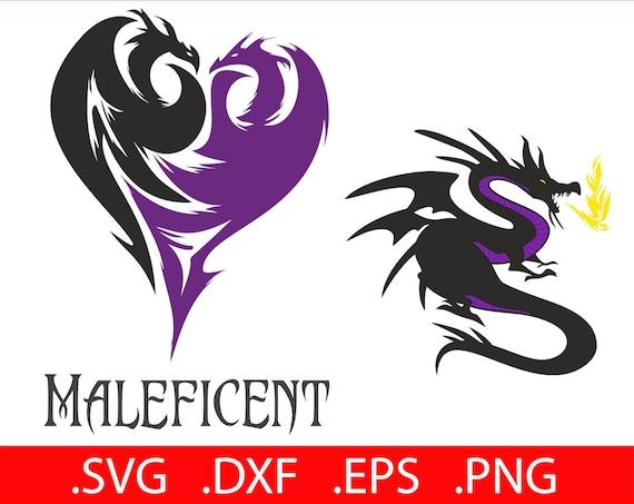 Maleficent Svg File Disney Descendants Svg Disney Maleficent Dragon Svg Descendants Dragon Svg Maleficent Heart Svg Mals Icon Logo Clipart