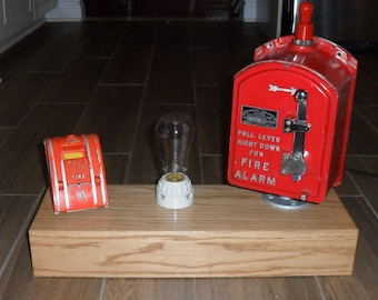Table Lamp-Fire Box Style