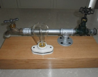 Table Lamp-Water tap & Valve Theme