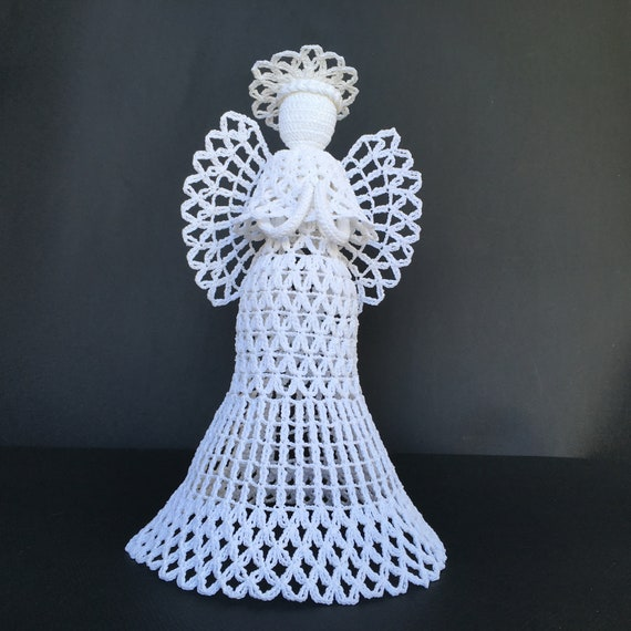 Crochet Angel For A Wedding Gift Baptism And Christmas Tree Etsy