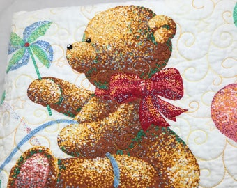 Teddy Bear Baby Quilt -- Ready to Ship