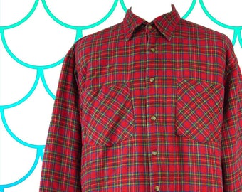Red Check Padded Flannel Shirt