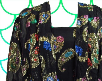 O So Fancy Vintage Brocade top and jacket set