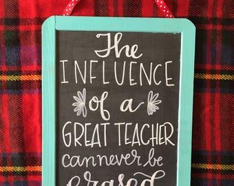 Influential Teachers Chalkboard