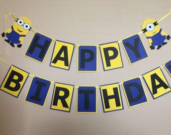 Minion Banner, Minion Birthday Banner, Birthday Sign