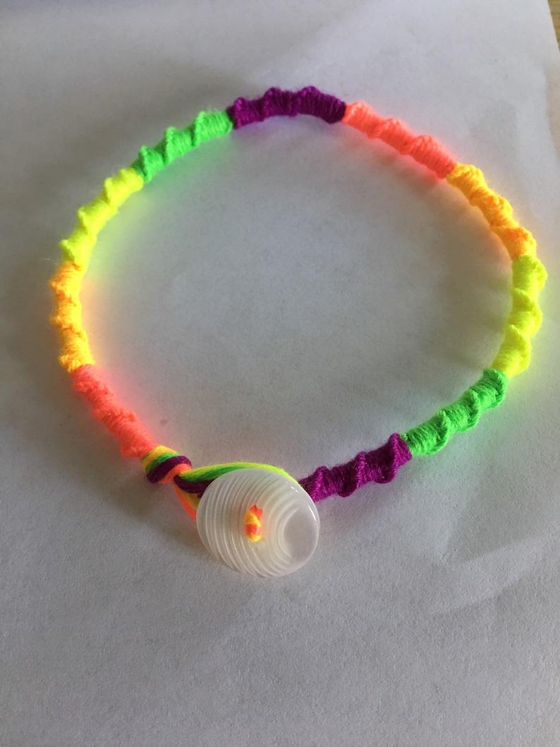 L-XXL Rainbow Spiral BraceletAnklet