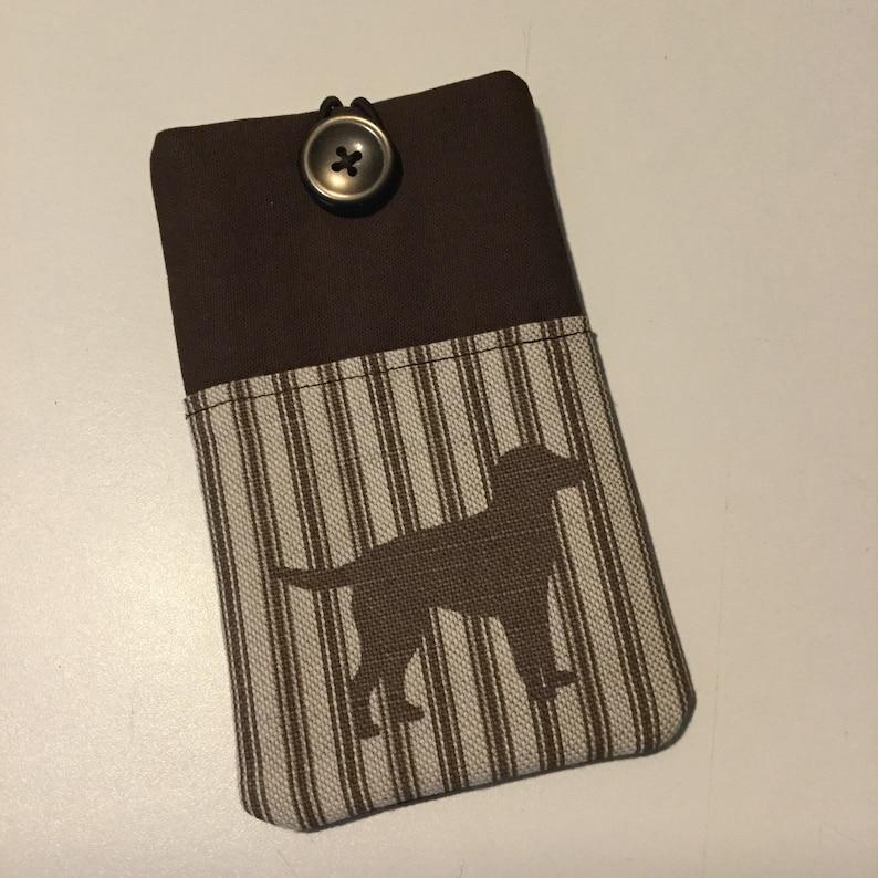 8e8576e861 Padded fabric phone case labrador | Etsy
