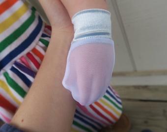 Blue Velvet No Scratch/Eczema Mesh Mittens (baby/toddler/child)
